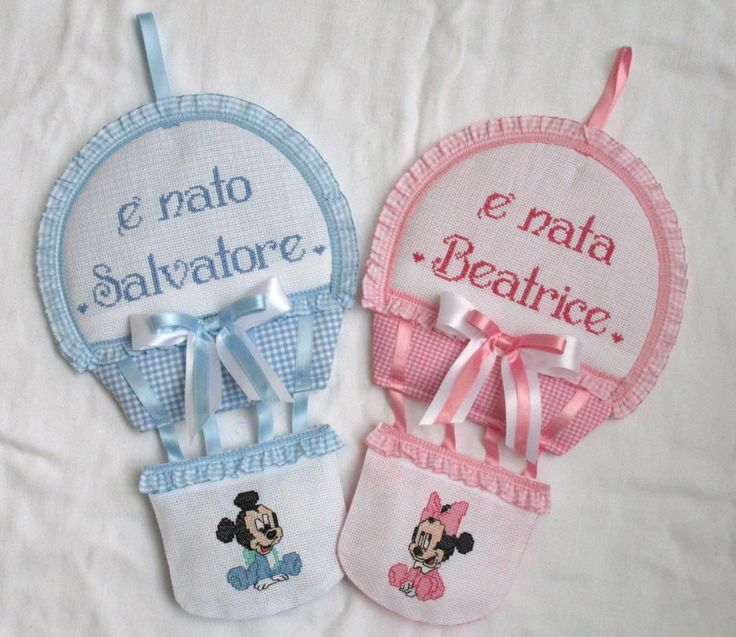 personalizzato con nomi a punto croce  e baby disney;  video : https://youtu.be/6UcffM7zy9Q