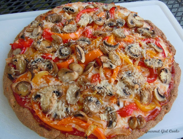Low carb Veggie Pizza from Gourmet Girl Cooks! I've made it over and over, and I love it! TY Goumet Girl! :)