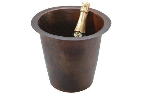 305mm Round Hammered Copper Champagne Bar/Prep Sink
