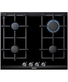 Siemens ER626PB70A 60 cm Gas Cooktop The gas cooktop with a heat-resistant, easy-to-clean ceramic glass surface.