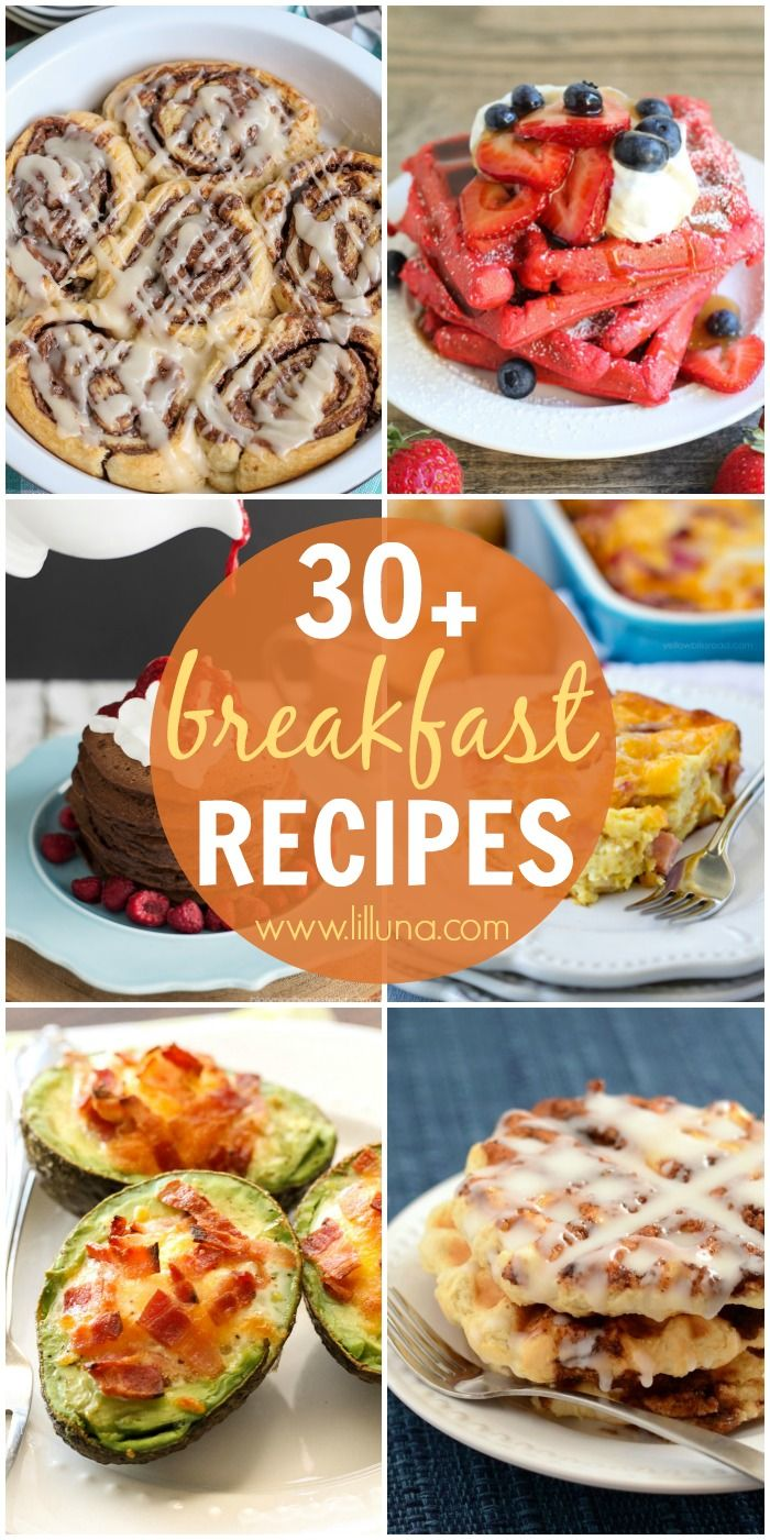 Looking for some awesome breakfast recipes, well look no further! Check out this roundup of 30+ breakfast recipes full of sweet and savory dishes to try!