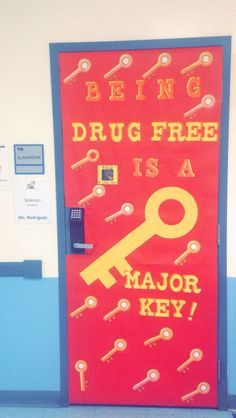 Red Ribbon Week Door Decorating Ideas - for middle school