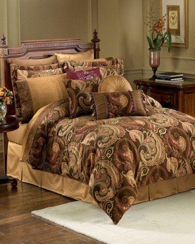 Croscill Home Fashions Burgess 4-Piece Queen Comforter Set, Cognac by  Crocsill. $274.85