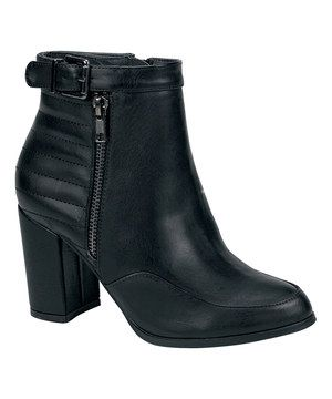 This Nature Breeze Black Teena Ankle Boot by Nature Breeze is perfect! #zulilyfinds