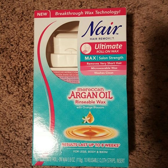 Nair Hair Removal Wax Max Strength Roll On 3 9 Oz 10 Reusable Cloth Strips Brand