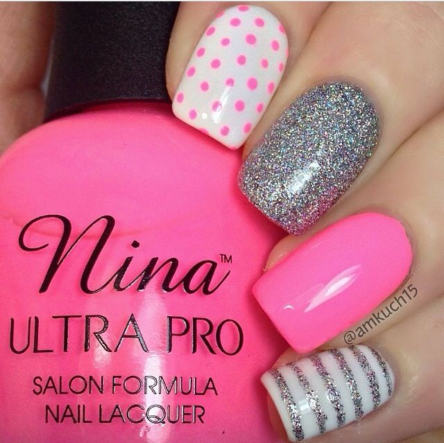 Best 25 pink grey nails ideas on pinterest matt nails lady dots strips and grey nails prinsesfo Image collections