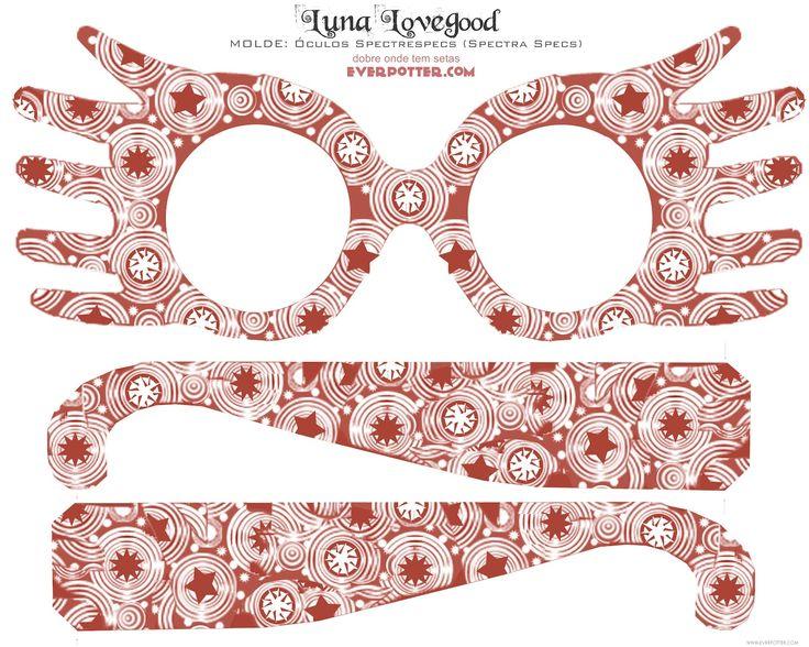 Harry Potter-TheBlog: Como fazer o óculos de Luna Lovegood- Óculos Spectrespecs