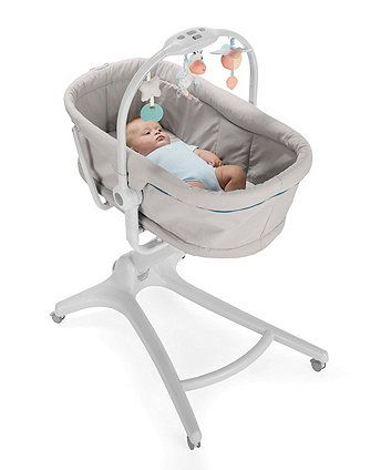 a4702a2f2824 Chicco s baby hug 4-in-1 converts from a recliner and crib into a highchair  and first chair