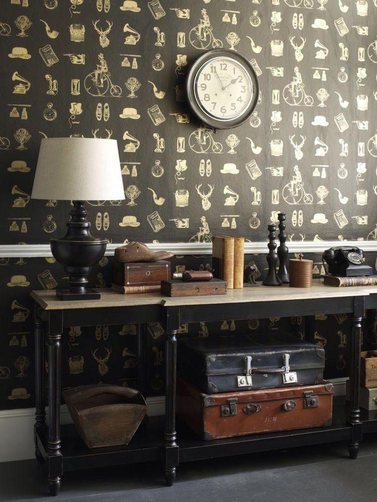 Gentlemen's Club wallpaper design by Albany.