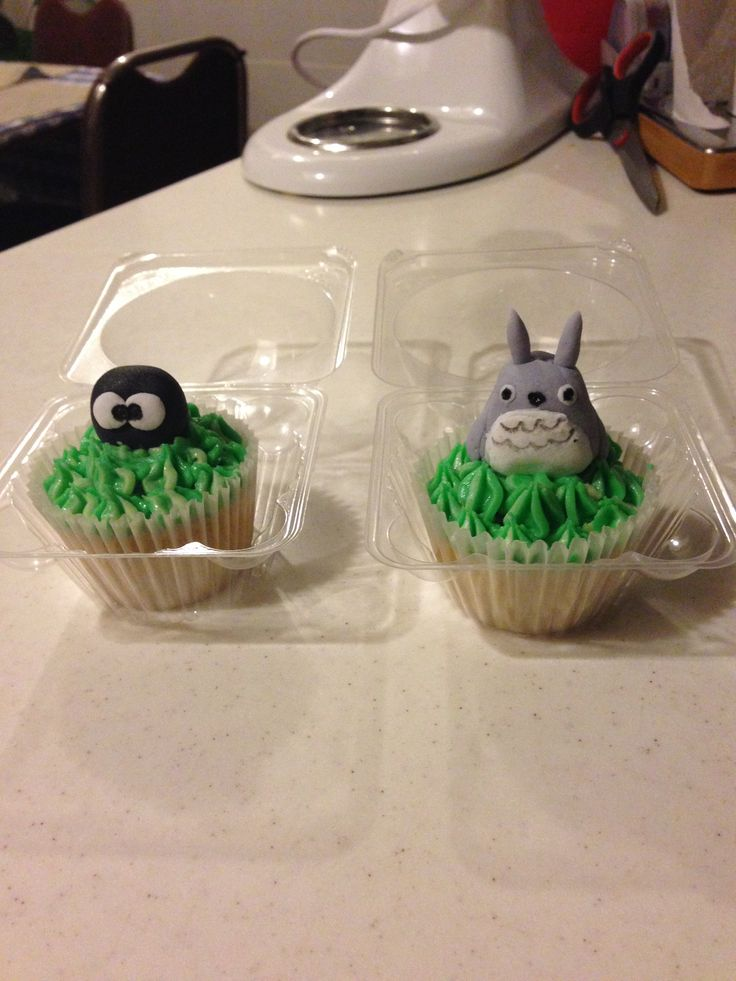 A long time ago I made these Totoro Cupckakes :) #Totoro
