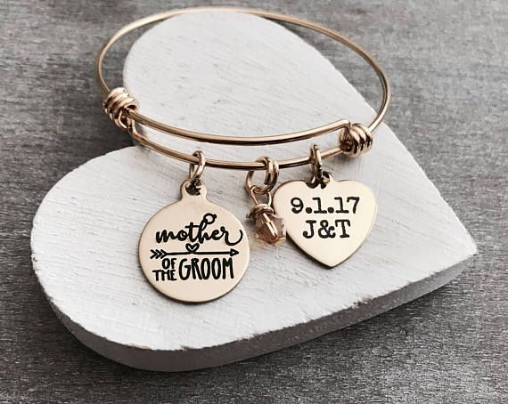 Mother of Groom Mother of the Groom Customized Date Gold