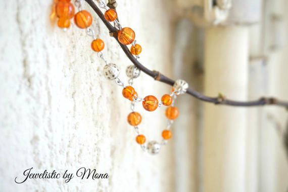 Charming bracelet with gorgeous amber colored by JewelisticbyMona