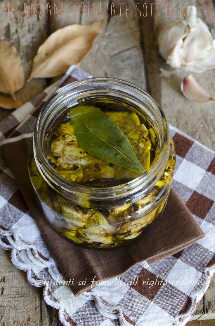 melanzane grigliate sott'olio fatte in casa senza aceto ricetta involtini o fette