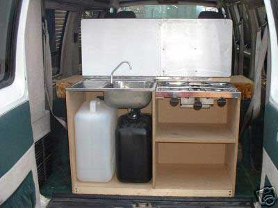 Camper van home builder furniture and layout examples for Lifestyle kitchen units