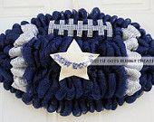 Items similar to Dallas Cowboys Deco Mesh Football Shaped Wreath (New Item) on Etsy