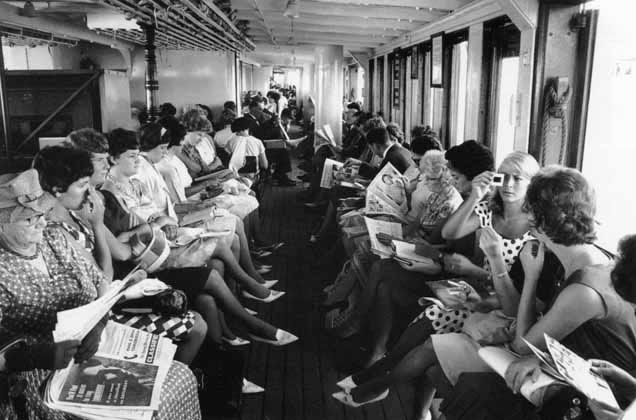 Ferry commuters – 1963 ~ David Moore