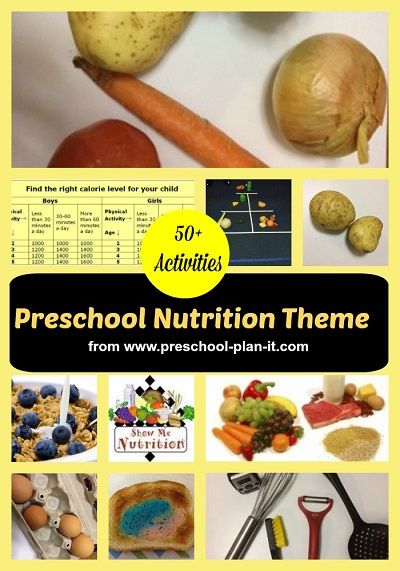 Preschool Nutrition Theme | Kids nutrition, Nutrition ...
