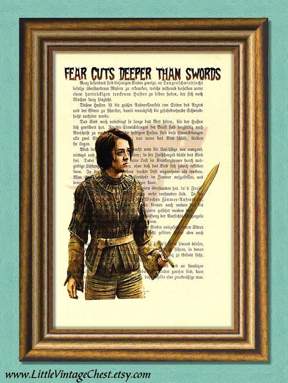 Game of Thrones ARYA STARK   Dictionary Art by littlevintagechest, $7.99