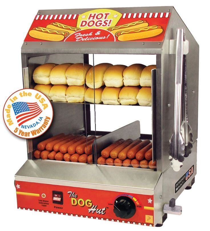 Features:  -Volts: 120.  -Watts: 1200.  -Amps: 10.  -Made in the USA.  Product Type: -Hot dog grill/roller.  Country of Manufacture: -United States. Dimensions:  Overall Height - Top to Bottom: -19.75