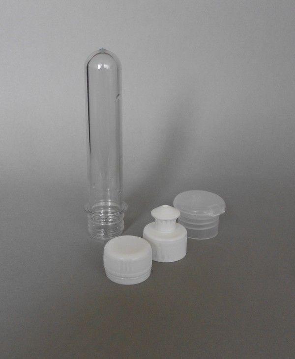 Preforma BEZ UZÁVĚRU čirá 35-40ml (1l - 2l PET)