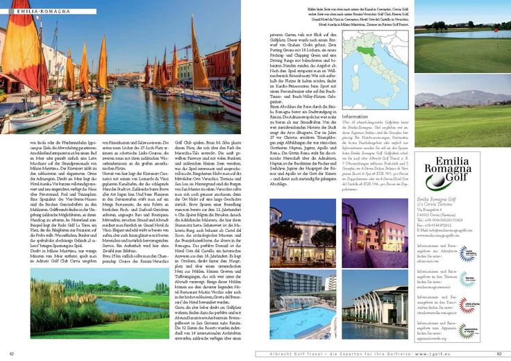 Golf, Kultur, Genuss in der Emilia Romagna, on Discover Golf by Albrecht Golf Travel, April issue!! ‪#‎ergolf‬ ‪#‎golfholidays‬ ‪#‎golftrips‬