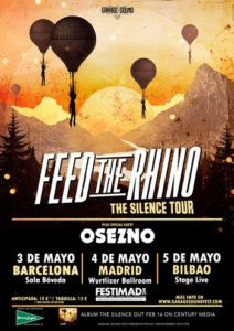 Feed the Rhino darán 3 conciertos en España