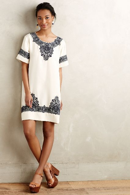 Loka Tunic Dress - from Anthroplogie. This is the ultimate summer dress for those relaxed summer days and perfect for holiday