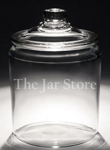 2 Gallon Anchor Heritage Hill Jar    OMG! Cheap glass jars. Wish I'd found this a long time ago. Christmas in a jar, anyone?