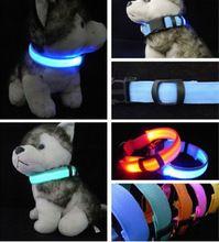 Nylon pet led dog collar notte di sicurezza led lampeggiante glow led  Pet forniture cane collare del gatto piccolo designer prodotti per cani collari(China (Mainland))