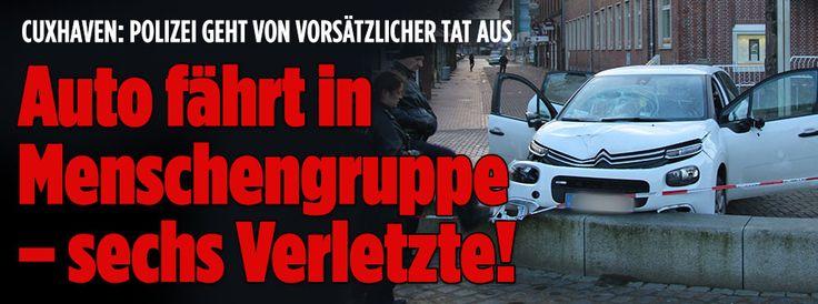 Auto fährt in Menschengruppe – Verletzte!