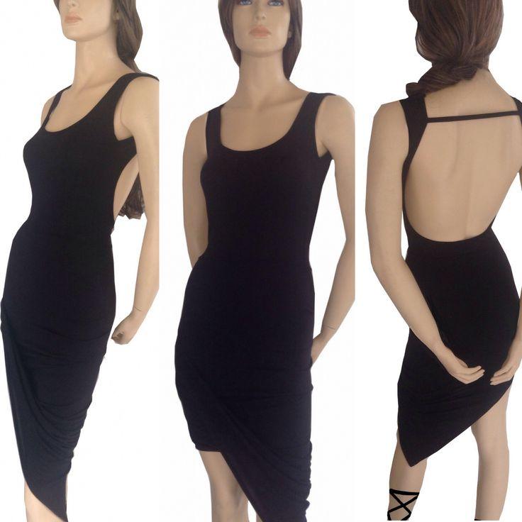 AZ draped dress with low back