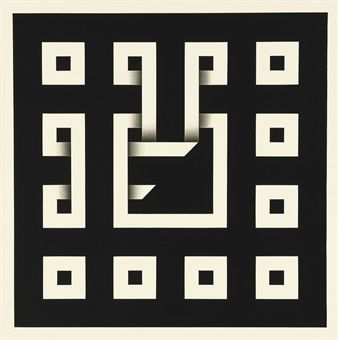 Omar Rayo, colombian, Clandestine Game, 1968