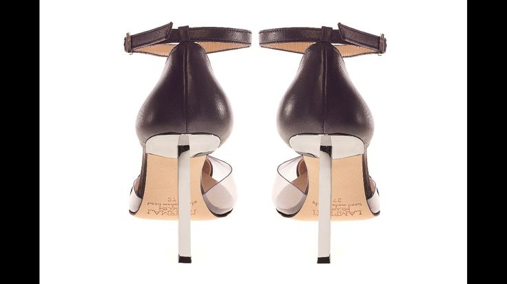 Lamperti Milano PVC and black leather Salvation Rod heels