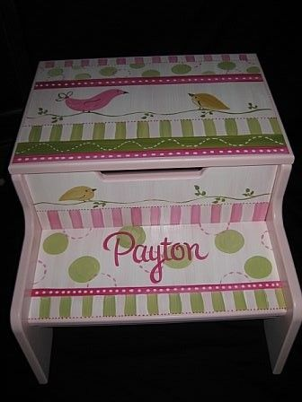 Items similar to personalized hand painted storage step stool penelope bird on Etsy & 22 best Step Stools For Boys images on Pinterest | Step stools ... islam-shia.org