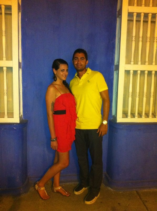 Colorful picture (Yellow, blue and red are Colombia's flag colors). With Lauren (USA)