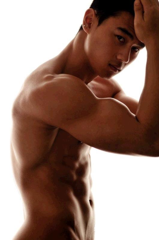 Asian men chest