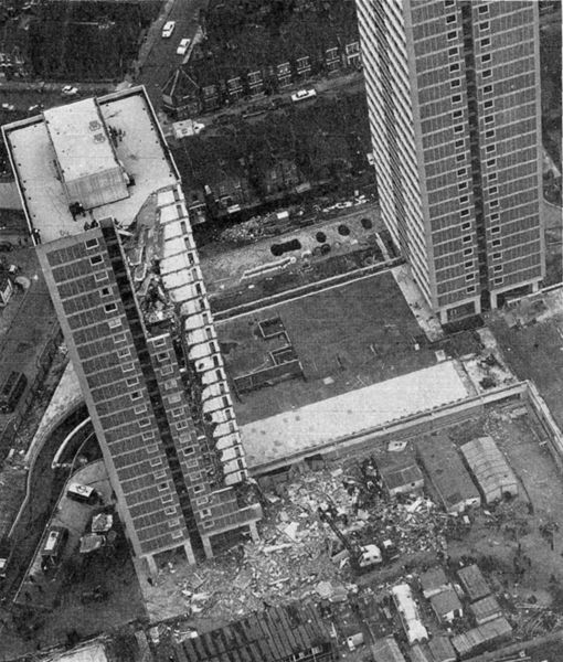 Ronan Point Was A 22 Storey Tower Block In Newham East
