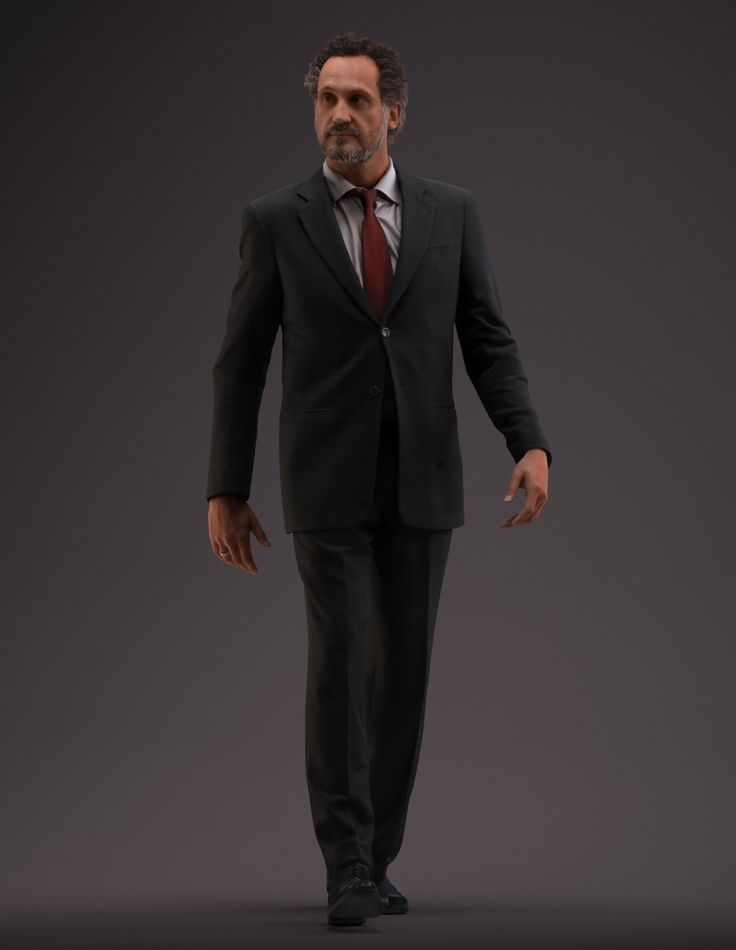 3d business man realistic male