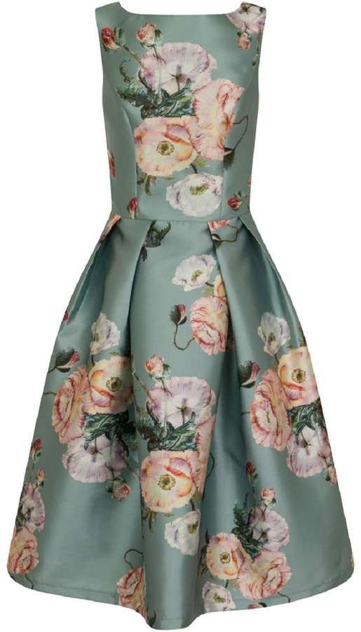 *Chi Chi London Multi Coloured Floral Print Prom Dress
