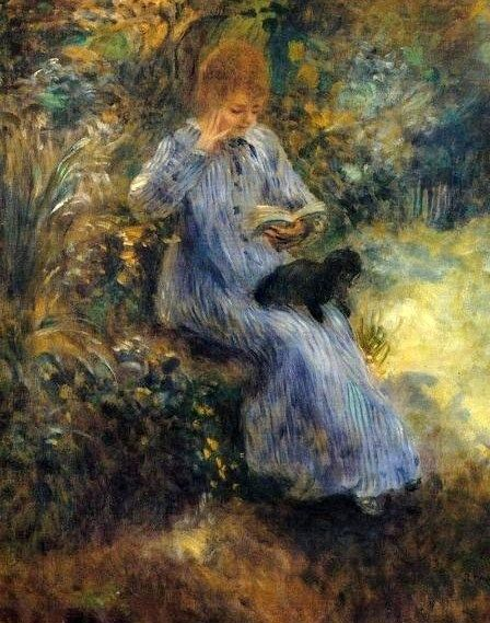 Pierre-Auguste Renoir (French Impressionist Painter, 1841-1919) Tama the Japanese Dog It's About Time: A Renoir
