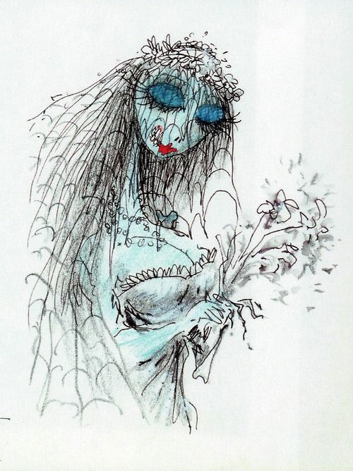 Corpse Bride character sketch by Tim Burton