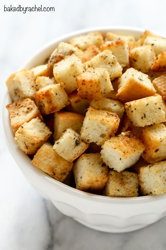 homemade garlic and herb croutons crouton recipes bread recipes herbs ...
