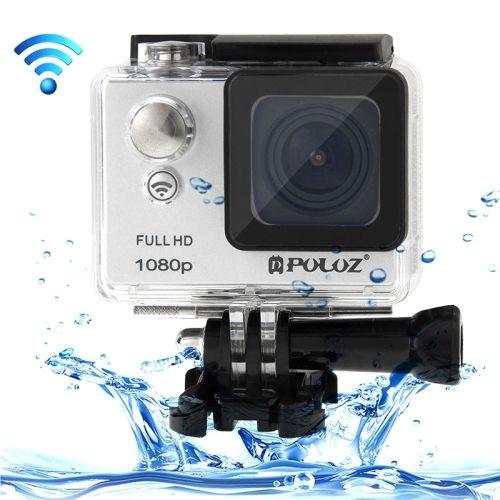 PULUZ U6000 Full HD 1080P 2.0 inch LCD Screen WiFi Waterproof Multi-function Sport Action Camcorder, Novatek NT96650 Chipset, 175-degree Wide-angle Lens(Grey)