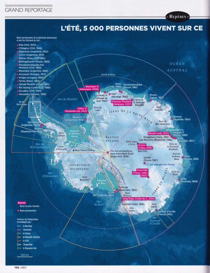 GEO Antarctique Antarctica Map created