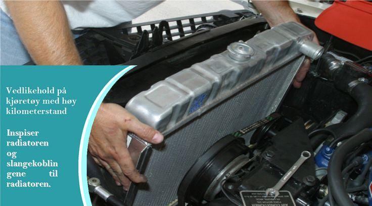 Vedlikeholdsoppgaver man bør utføre hvert år for biler med høy kilometerstand Spyl ut radiatoren fra motor-siden med hageslange. #sommerdekkene