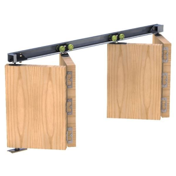 Herkules Plus 25 Twin Bi Folding Door System 1200mm Track Set For 4x Doors M 1200mm Bifoldin Wooden Sliding Doors Sliding Folding Doors Sliding Doors