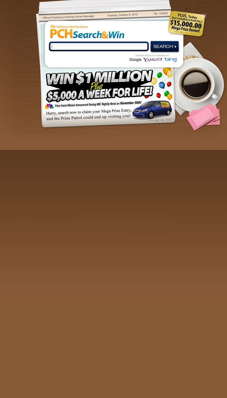 World TV3 Win for life, Pch sweepstakes, Enter sweepstakes