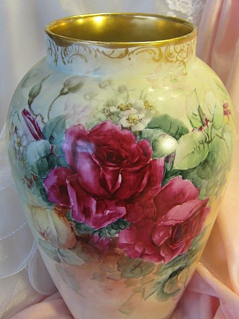 Absolutely Beautiful ~ MAGNIFICENT Limoges France Hand Painted Antique from oldbeginningsantiques on Ruby Lane