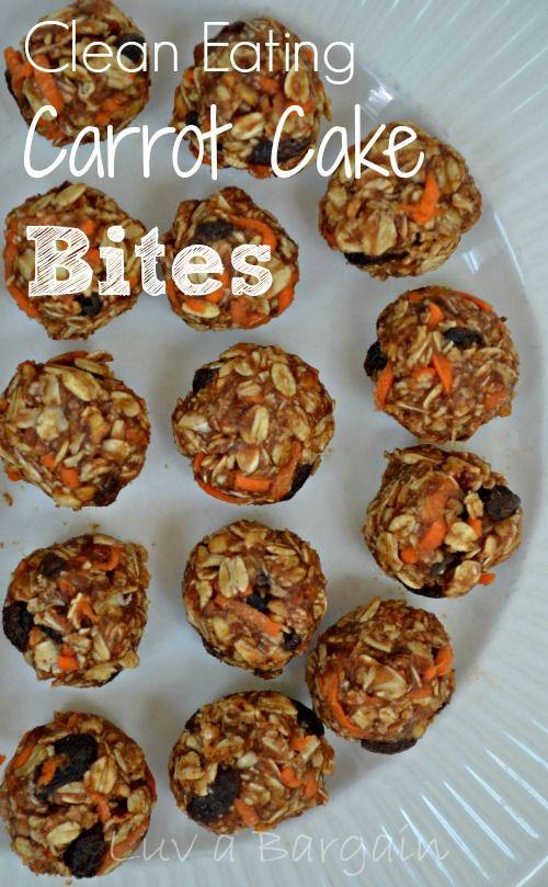 Clean Eating Carrot Cake Bites