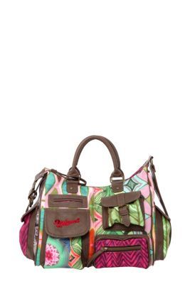 Desigual women's London Medium Ishburi bag. A mini version of our legendary London bag, with a single spacious interior compartment and endless pockets on the outside.